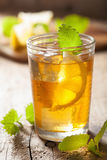 Ice tea with lemon and melissa Stock Image