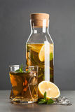 Ice tea with lemon and mint Royalty Free Stock Photography