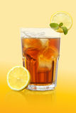 Ice tea and lemon mix honey very fresh isolated Stock Photos