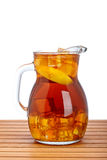 Ice tea with lemon pitcher Stock Photos