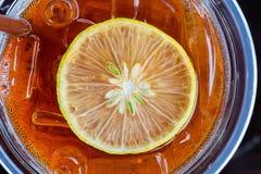 Ice tea with lemon Royalty Free Stock Photography