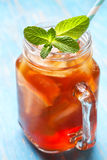 Ice tea with mint and lemon Stock Photography