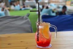 Ice tea with peach. Stock Image