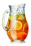Ice tea in the pitcher Royalty Free Stock Photo