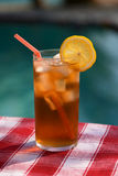 Ice Tea by the Pool Stock Images