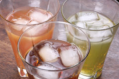 Ice tea with rocks Royalty Free Stock Photos