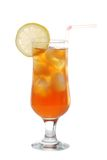 Ice tea with a slice of lemon Royalty Free Stock Image