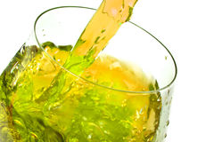 Ice tea splash Royalty Free Stock Photos