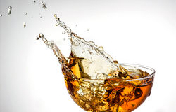 Ice tea. splash in glass Stock Images