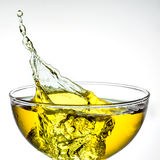 Ice tea. splash in glass Royalty Free Stock Photos