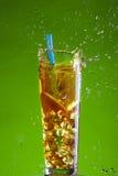 Ice tea splash Stock Images