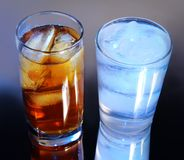 Ice tea & water Royalty Free Stock Photo