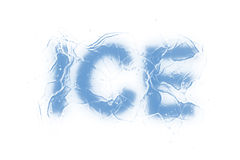 Ice (Text serie) Royalty Free Stock Photos