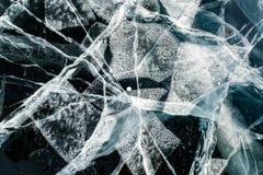 Ice texture. Baikal, Russia Stock Photography