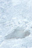 Ice texture with cracks stock photography