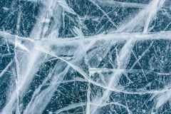 Ice Texture On Frozen Lake Stock Photo
