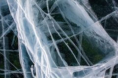 Ice texture closeup background. stock images