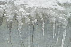 Ice texture on metallic surface Royalty Free Stock Image