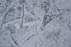 Ice texture. Natural background, frozen surface of the lake Royalty Free Stock Images