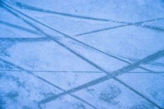 Ice texture on outdoor rink Royalty Free Stock Images