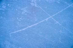 Ice texture on outdoor rink Stock Photography