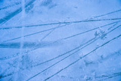 Ice texture on outdoor rink Royalty Free Stock Photo