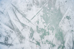 Ice texture on outdoor rink Stock Image