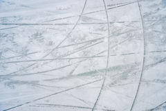 Ice texture on outdoor rink. On Lafontaine Park Lake in Montrea, Canada Stock Images
