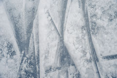 Ice texture on outdoor rink Stock Photos