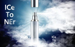 Ice toner ad Royalty Free Stock Photography