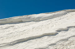 Ice on the top of a mountain Royalty Free Stock Photos