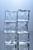 Ice Tower. Photograph of ice cubes set on top of each other to form two columns Stock Photography