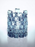 Ice tower. The tower constructed of cubes of an ice royalty free illustration