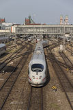 ICE train departing from Munich central railway station, 2015 Royalty Free Stock Photography