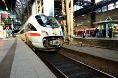 ICE train in Hamburg train station Royalty Free Stock Photography