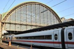 ICE speed train on train platform Stock Images