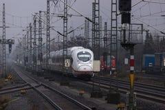 ICE train in siegburg germany. Siegburg, North Rhine-Westphalia/germany - 06 01 19: ICE train in siegburg germany stock image