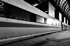 ICE train in train station Stock Photography