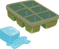 Ice and tray Royalty Free Stock Photo