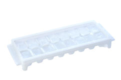 Ice tray with ice isolated Royalty Free Stock Photos