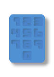Ice tray style number. Number 0-9 in silicon blue ice tray style Royalty Free Stock Images
