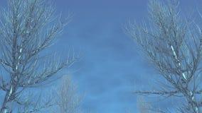 Ice tree. Iced tree and blue sky royalty free illustration