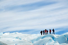 Ice trekking, patagonia argentina. Royalty Free Stock Photo