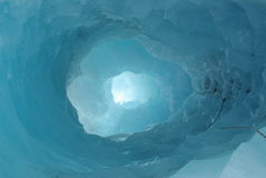 Ice tunnel Stock Photo