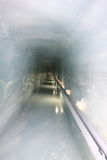 Ice tunnel of Jungfraujoch Royalty Free Stock Images