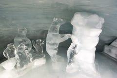Ice tunnel at Jungfraujoch Royalty Free Stock Photo