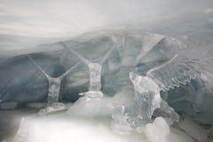 Ice tunnel at Jungfraujoch Stock Photos