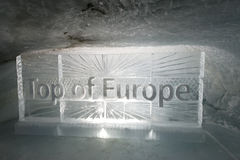 Ice tunnel at Jungfraujoch Royalty Free Stock Image