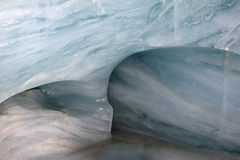 Ice tunnel at the Jungfraujoch in Switzerland stock image