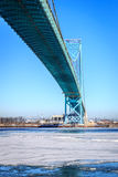 Ice Under Ambassador Bridge Royalty Free Stock Image